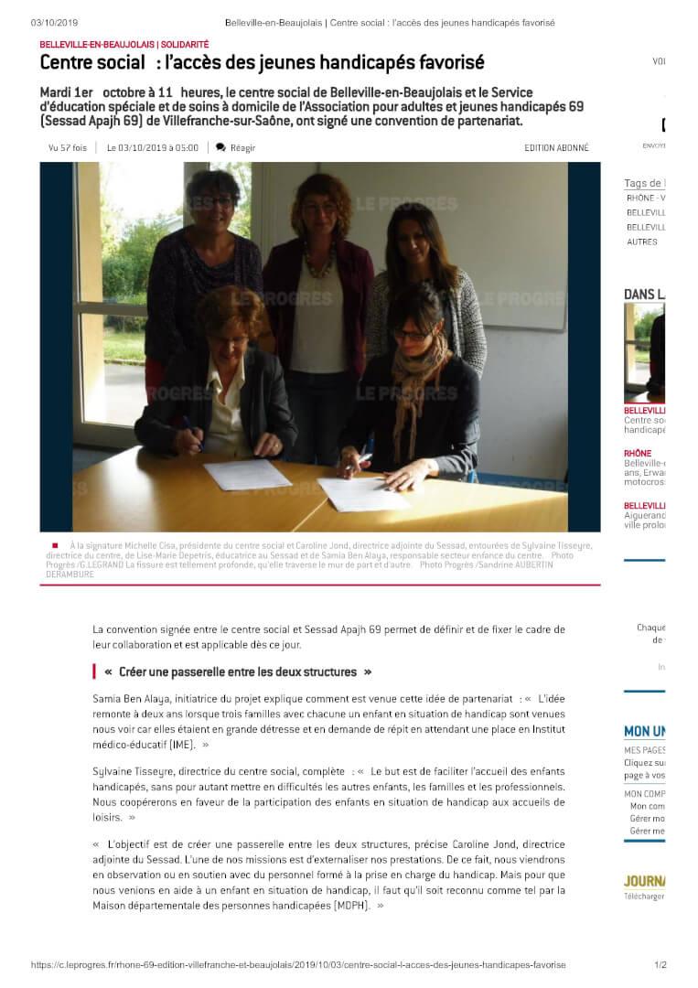Belleville-en-Beaujolais _ Centre social_ laccès des jeunes handicapés favorisé_1