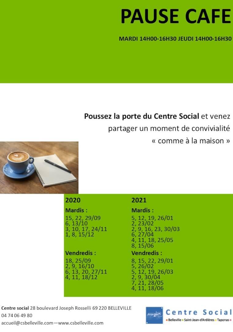 tracts activités pause café