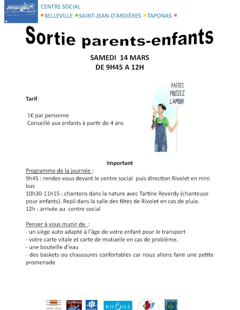 Sortie parents-enfants 14 mars 2020 - Tartine Reverdy