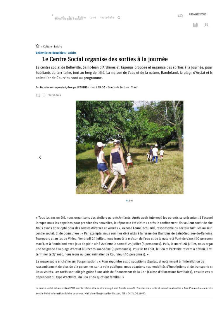 1 -Culture - Loisirs _ Le Centre Social organise des sorties à la journée photo 1_1
