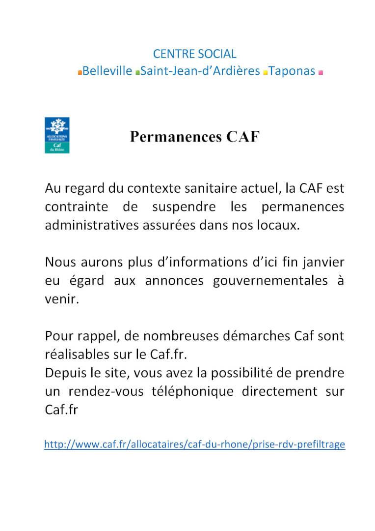 affiches permanence CAF Portrait
